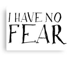 No Fear Motivational Canvas Print