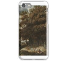 January looting  Wooded Landscape with falconry iPhone Case/Skin