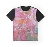 Pink Leaves Graphic T-Shirt