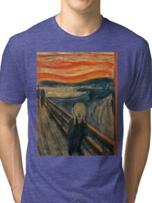 Edvard Munch - The Scream Tri-blend T-Shirt