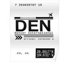 Denver International Airport Call Letters Poster