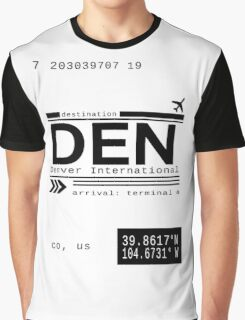Denver International Airport Call Letters Graphic T-Shirt