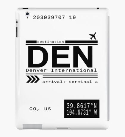 Denver International Airport Call Letters iPad Case/Skin