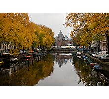 Autumn in Amsterdam - Colorful Symmetrical Stillness Photographic Print