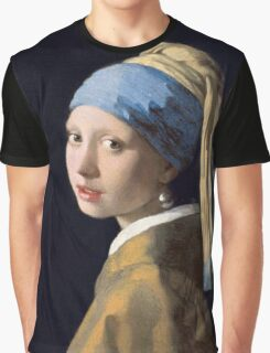 Johannes Vermeer - Girl with a Pearl Earring Graphic T-Shirt