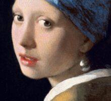 Johannes Vermeer - Girl with a Pearl Earring Sticker