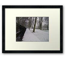 Snow Path Framed Print