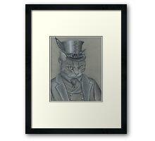 Steampunk Cat Framed Print