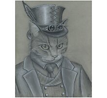 Steampunk Cat Photographic Print