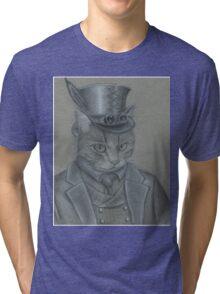 Steampunk Cat Tri-blend T-Shirt