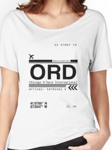 Chicago Ohare International Airport Call Letters Women's Relaxed Fit T-Shirt