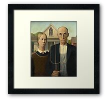 Grant Wood - American Gothic Framed Print