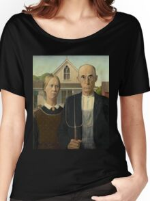 Grant Wood - American Gothic Women's Relaxed Fit T-Shirt