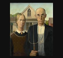 Grant Wood - American Gothic Unisex T-Shirt