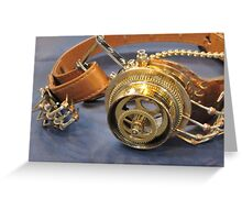 Steampunk Goggles Greeting Card