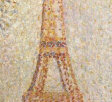 Georges Seurat's La Tour Eiffel Sticker