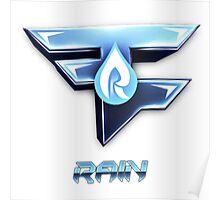 Faze Rain | Old Logo | White Background |  Poster
