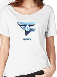 Faze Rain | Old Logo | White Background |  Women's Relaxed Fit T-Shirt