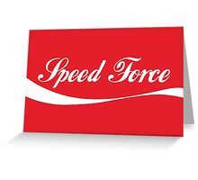 Speed Force - Coke Style Greeting Card