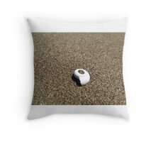 Sand Snail Throw Pillow