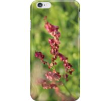 Macro red flower iPhone Case/Skin