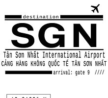 SGN Ho Chi Minh City International Airport Call Letters by adventureliela