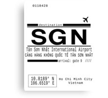 SGN Ho Chi Minh City International Airport Call Letters Canvas Print