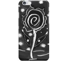 Balck and white flower iPhone Case/Skin