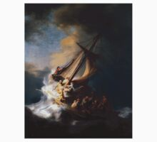 Rembrandt's The Storm on the Sea of Galilee Kids Tee