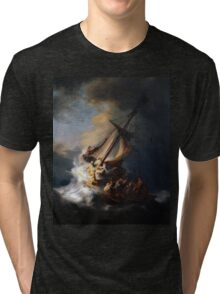 Rembrandt's The Storm on the Sea of Galilee Tri-blend T-Shirt