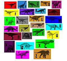 Dinosaur Alphabet Photographic Print