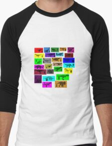 Dinosaur Alphabet Men's Baseball ¾ T-Shirt