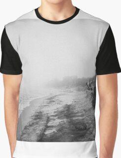 Foggy Beach Graphic T-Shirt