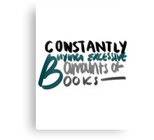 constantly buying books Canvas Print