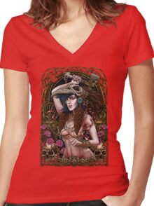 Winya No. 74 Women's Fitted V-Neck T-Shirt