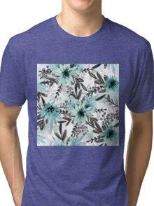 Blue asters Tri-blend T-Shirt