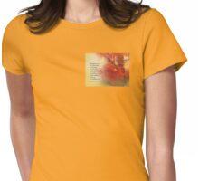 Serenity Prayer Maple Leaves Orange Womens Fitted T-Shirt