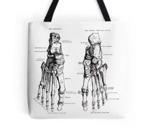 The Tarsus, Bones of the Foot- plantar and dorsal surfaces. Tote Bag