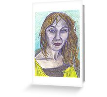 Cat Eyes, Sly Smile Greeting Card