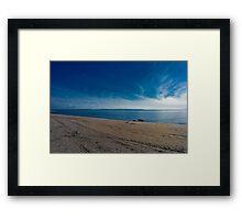 Blue Skies and Brown Sand Framed Print