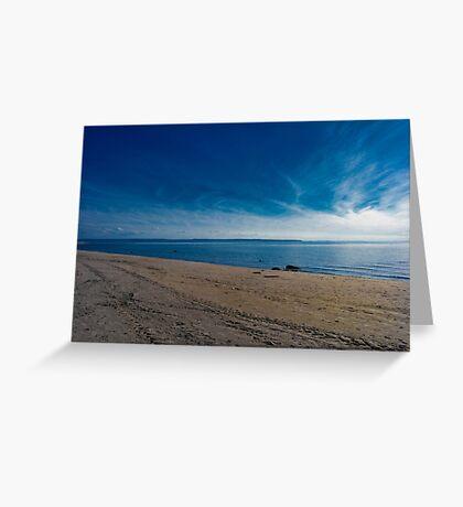 Blue Skies and Brown Sand Greeting Card