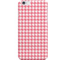 Houndstooth Pattern White and Pink phone case iPhone Case/Skin