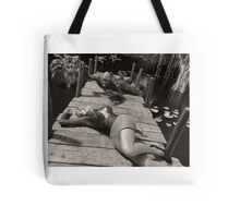 Creature from the Black & White Lagoon Tote Bag