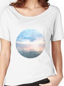 Watery Sunset Ocean Photography Women's Relaxed Fit T-Shirt