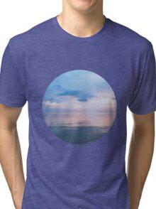 Watery Sunset Ocean Photography Tri-blend T-Shirt