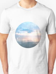 Watery Sunset Ocean Photography Unisex T-Shirt