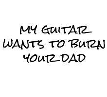 My Guitar Rock Punk Cool Photographic Print