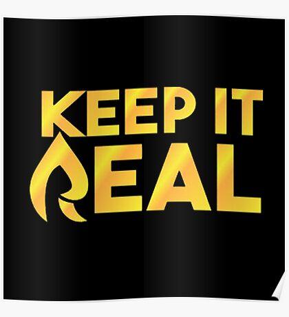 "Faze Rain | ""Keep it Real"" | Black Background | Poster"