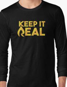 "Faze Rain | ""Keep it Real"" | Black Background | Long Sleeve T-Shirt"