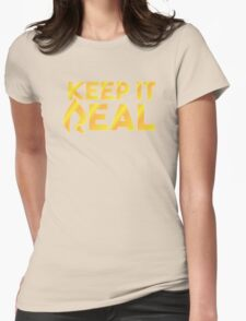 """Faze Rain   """"Keep it Real""""   Black Background   Womens Fitted T-Shirt"""